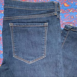 Banana Republic Navy Gold Stitch Skinny Jeans